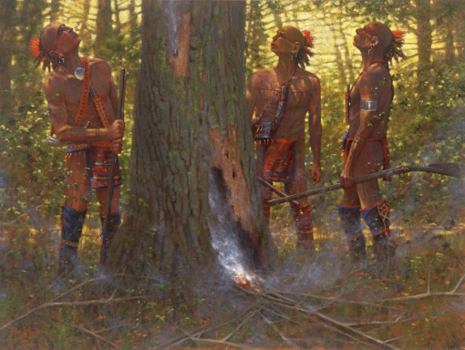 Smoking Out the Den Tree by Doug Hall | Giclées
