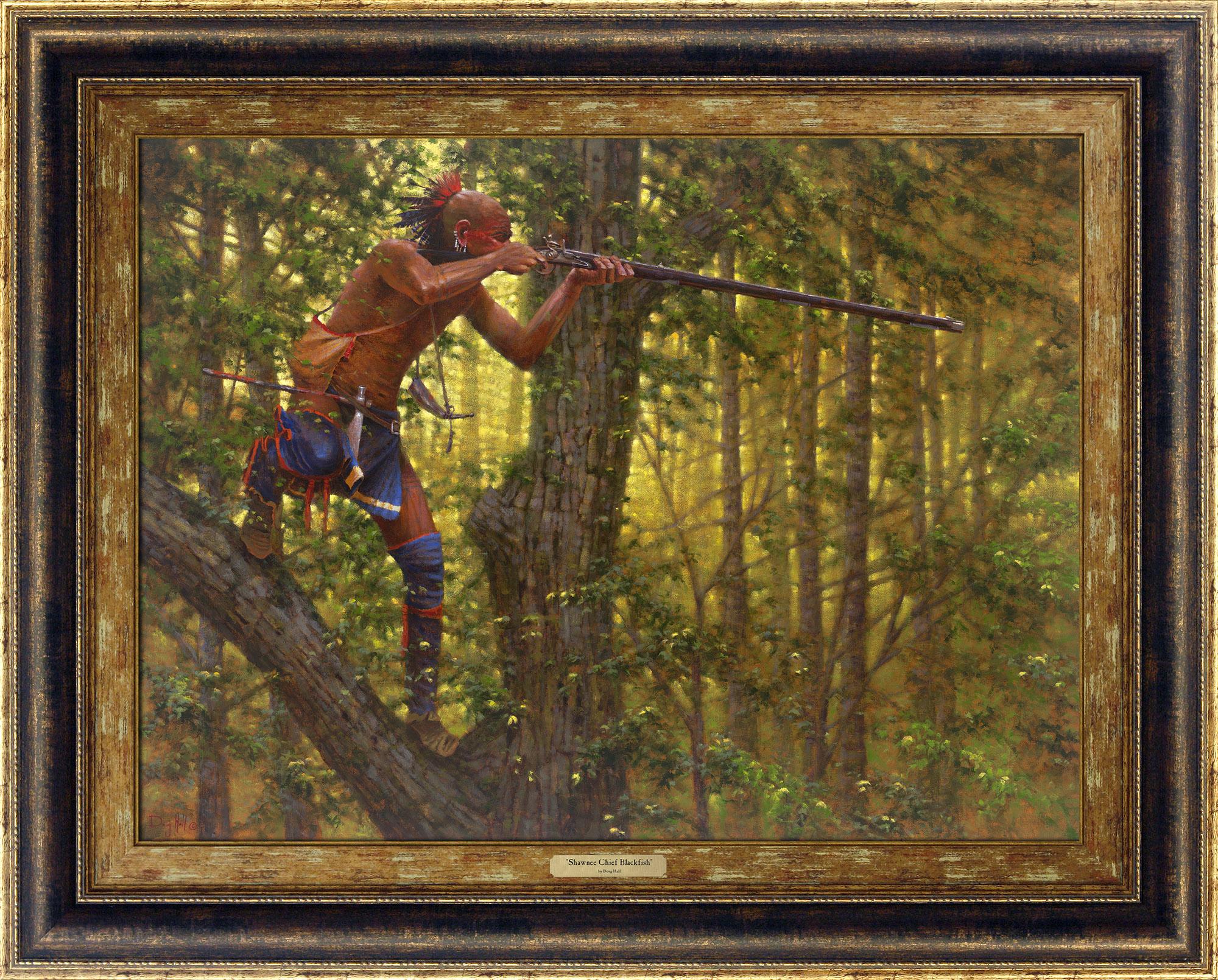 Shawnee Chief Blackfish_ 8205_612_27x36_Frame | Giclée