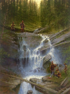 Gathering at the Falls by Doug Hall | Giclées