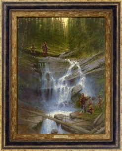 Gathering at the Falls by Doug Hall | Giclée