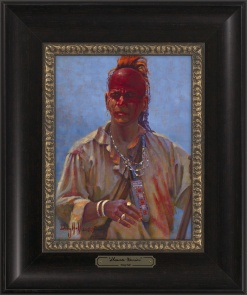 Shawnee Warrior 9x12 Framed
