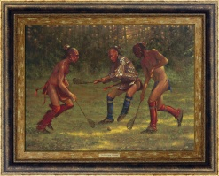 The Great Game - LaCrosse by Doug Hall | Giclée
