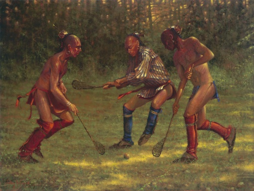 The Great Game - Lacrosse by Doug Hall | Giclées