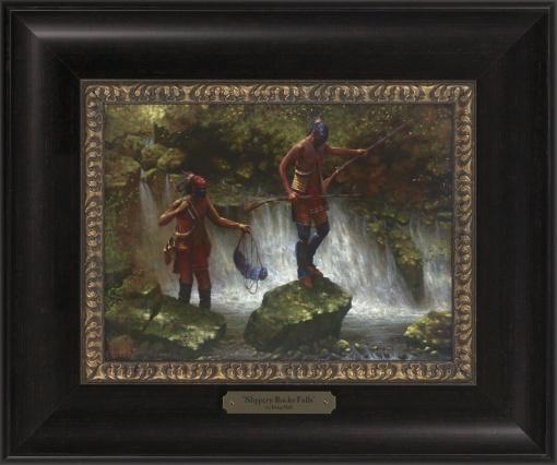 Slippery Rocks Falls 1023 - 9x12 Frame