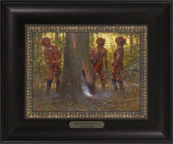 Smokin' Out the Den Tree 1023 - 9x12 Frame