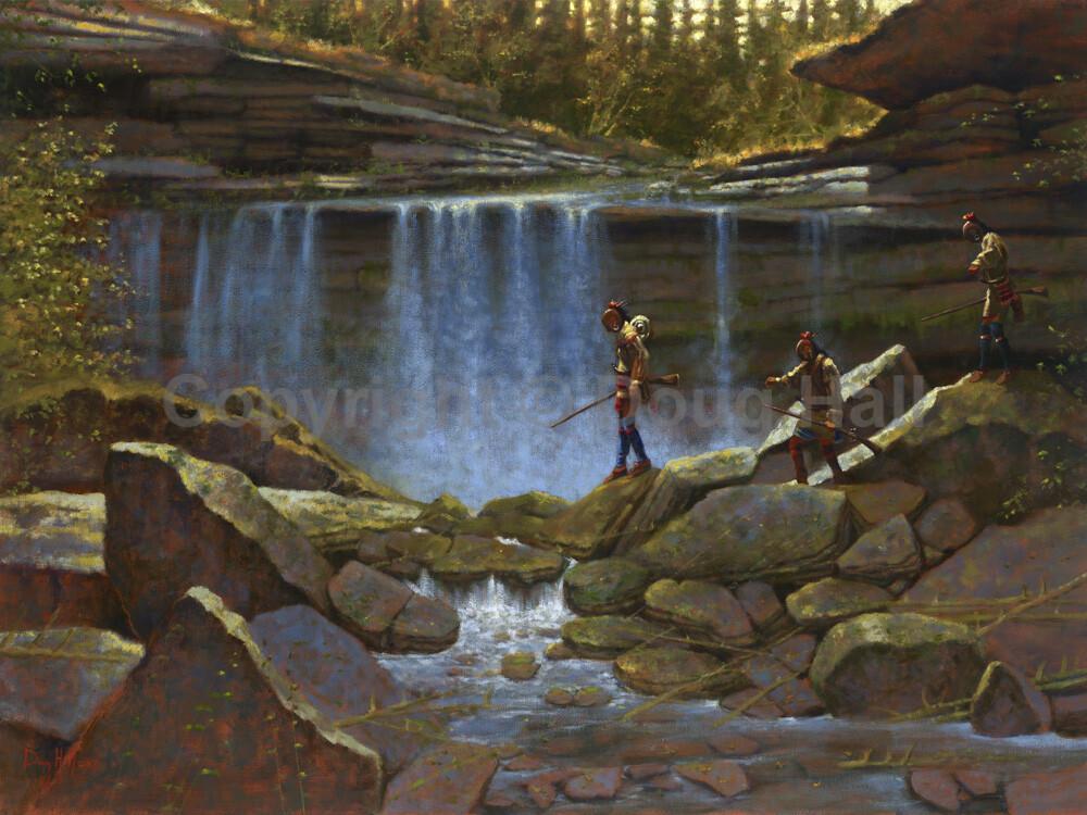Boulder Gap Falls by Doug Hall 063 30x40