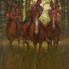 Eastern Shawnee War Party by Doug hall 052 48x36
