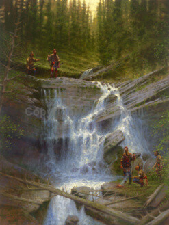 Gathering at the Falls by Doug Hall 026 48x36