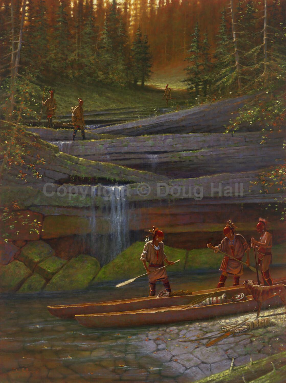 Portage on Indian Creek by Doug Hall - 021 - 30x40