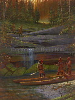 Portage on Indian Creek by Doug Hall 021 40x30