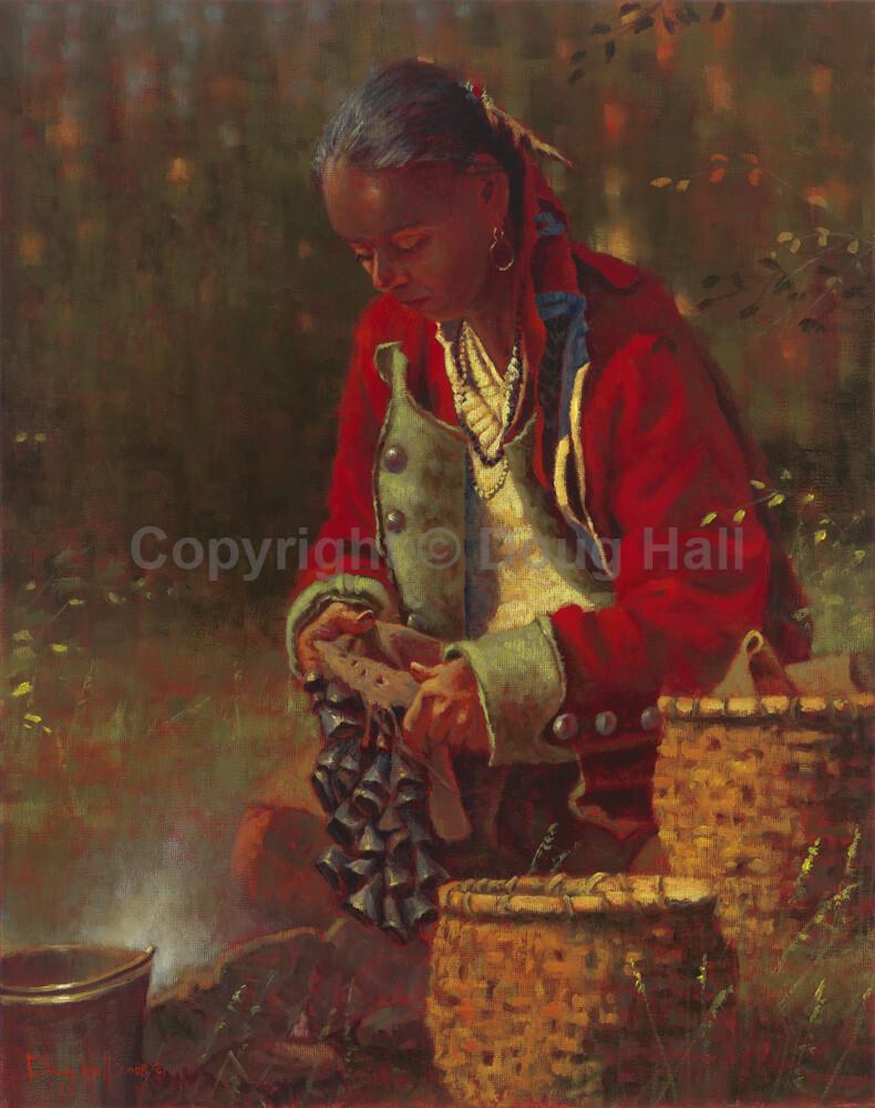 Preparing for the Deer Toe Dance by Doug Hall 062 30x24