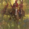 Red Coat Shawnee Chief Tecumseh by Doug Hall 013 48x36