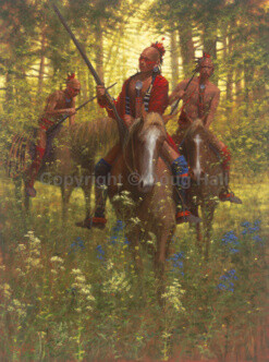 Red Coat Shawnee Chief Tecumseh by Doug Hall 013 48x36