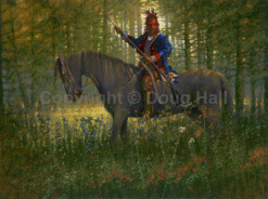 Shawnee War Chief Blue Jacket by Doug Hall- 055 - 36x48