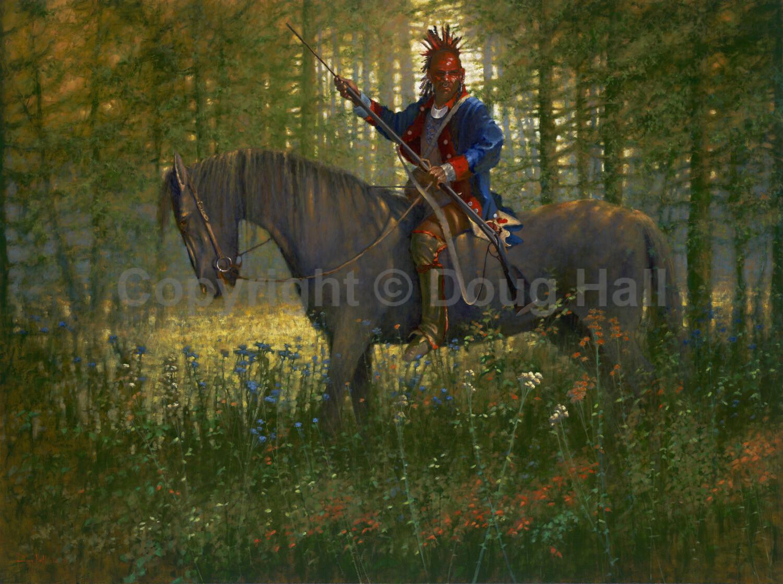 Shawnee War Chief Blue Jacket by Doug Hall- 055 - 36x48