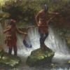 Slippery Rocks Falls by Doug Hall - 009 - 30x40
