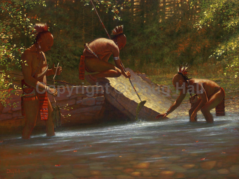 Spearfishing Five Mile by Doug Hall- 059 - 30x40