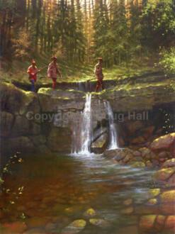 Stone Bridge Crossing by Doug Hall 003 40x30