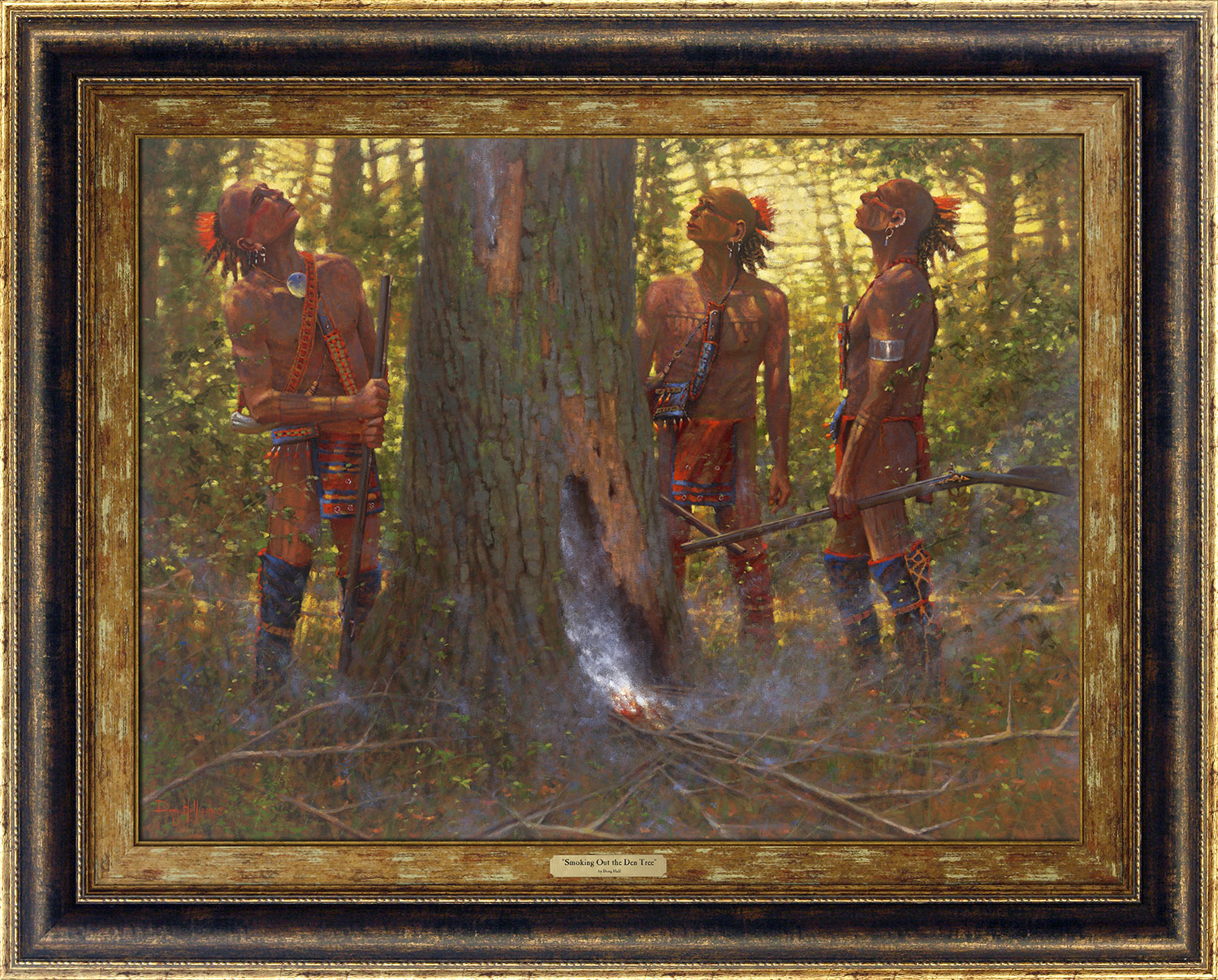 Smokin' Out the Den Tree by Doug Hall | Giclée