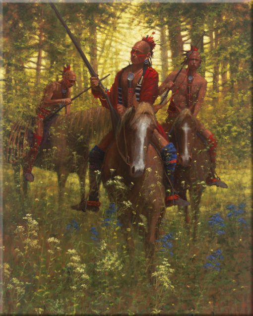 Red Coat - Shawnee Chief Tecumseh, 1812 - 8x10 Ceramic Tile
