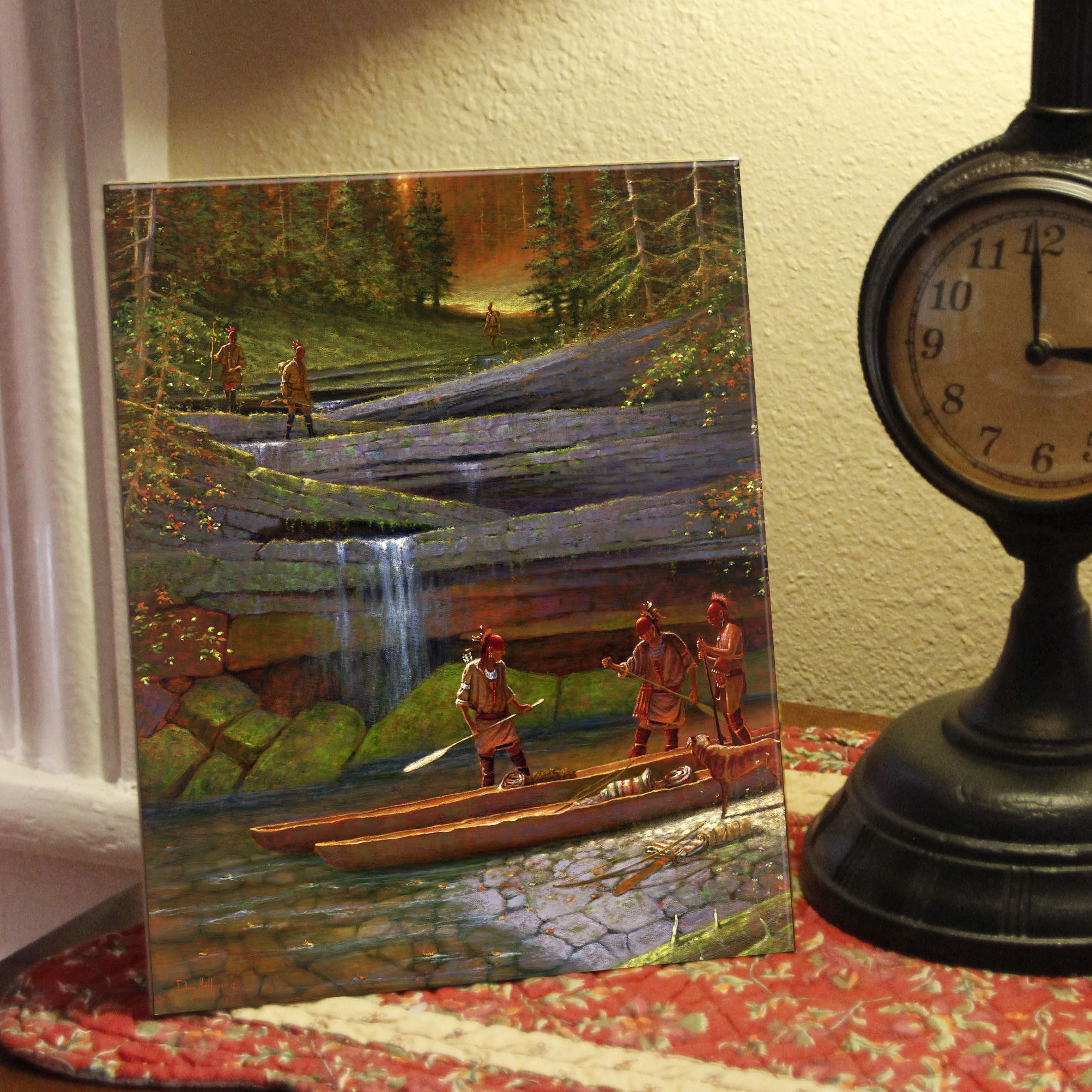 Indian Paintings | French & Indian War | Ceramic Tile | Doug Hall | Artist