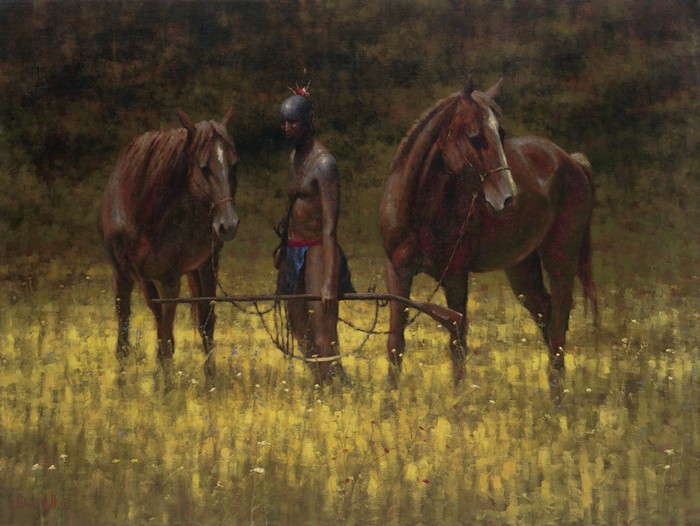 Indian Paintings | French & Indian War | Horses | Oil Painting | Doug Hall | Artist